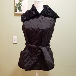 Black quilted skiing jacket